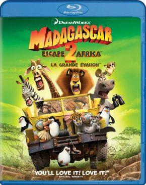 Madagascar: Escape 2 Africa - Blu-ray cover