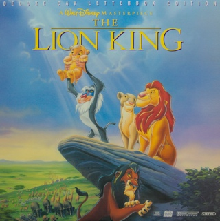 The Lion King - Laser Disc cover
