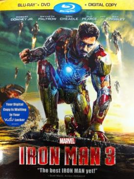 Iron Man 3 - Blu-ray cover