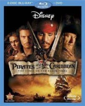 Pirates of the Caribbean 1: The Curse of the Black Pearl - Blu-ray cover