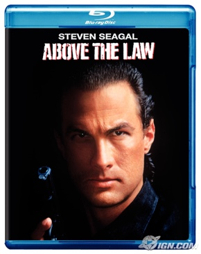 Above the Law - Blu-ray cover