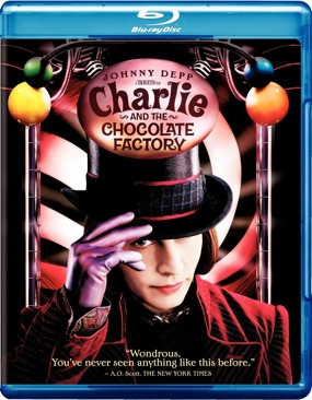 Charlie and the Chocolate Factory - Blu-ray cover
