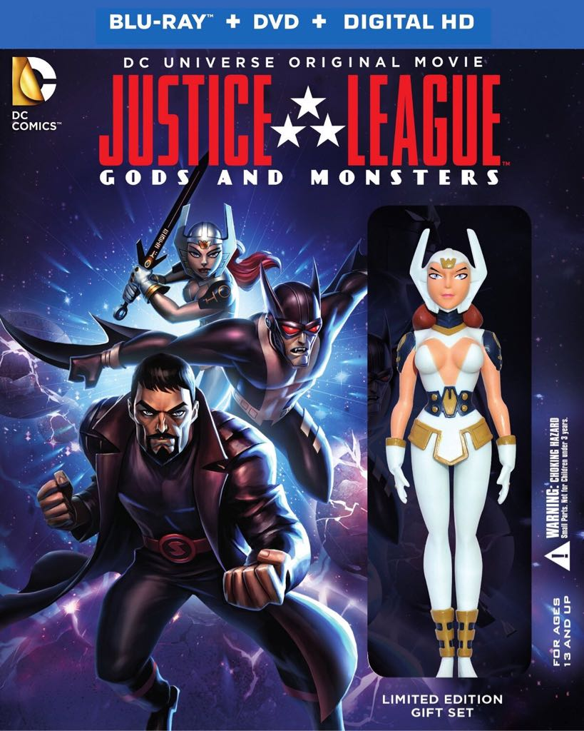 Justice League Gods and Monsters - Blu-ray cover