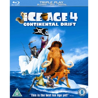 Ice Age 4: Continental Drift - Blu-ray cover