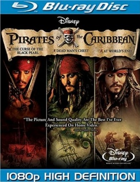 Pirates of the Caribbean Trilogy - Blu-ray cover