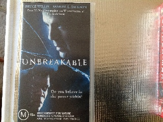 Unbreakable - VHS cover
