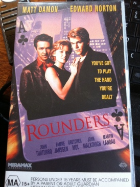 Rounders - VHS cover