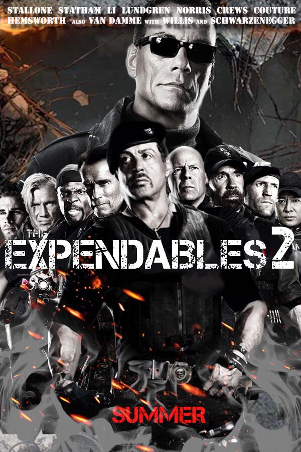 The Expendables 2 - DVD cover