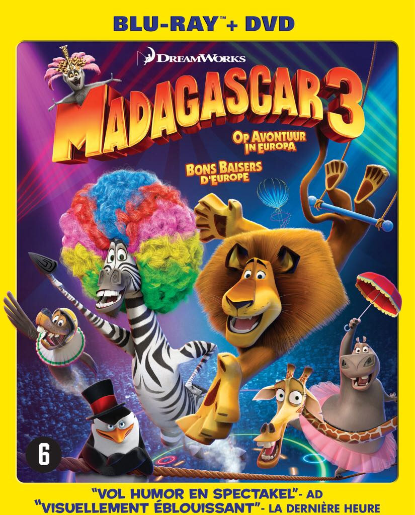 Madagascar 3: Europe's most wanted -  cover