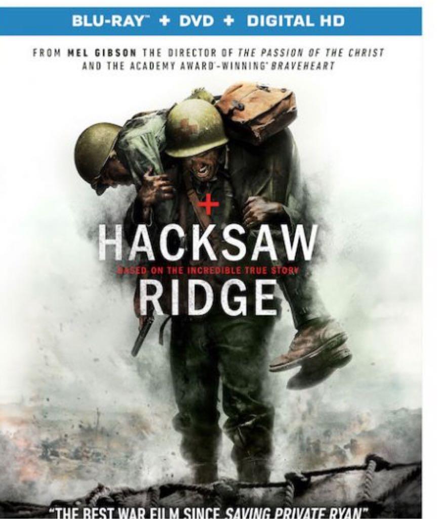 Hacksaw Ridge - Blu-ray cover