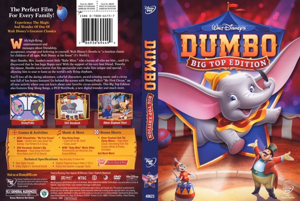 Dumbo Big Top Edition -  cover