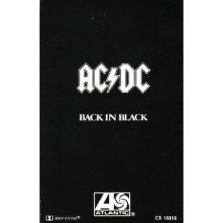 Back In Black - Cassette cover