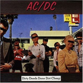 AC/DC - Dirty Deeds Done Dirt Cheap - CD cover