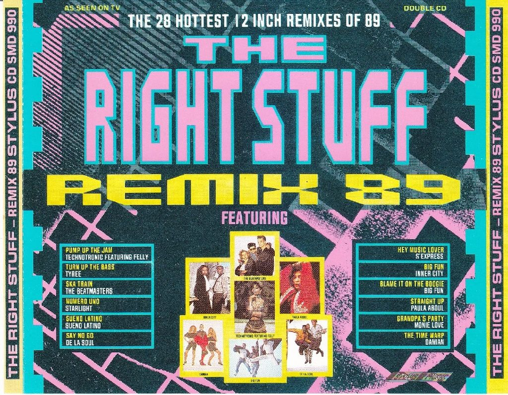 The Right Stuff - Remix 89-the 28 Hottest 12 Inch Remixes Of 89 - CD cover