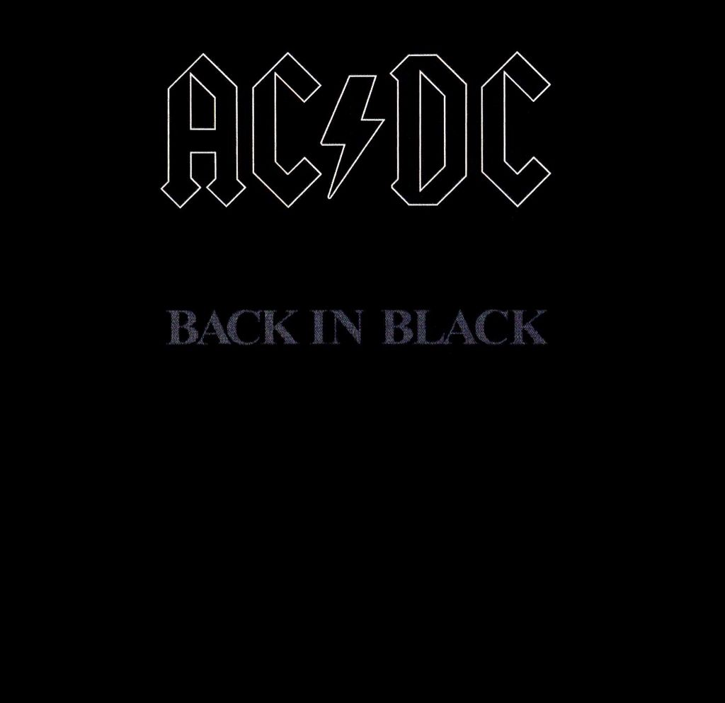 1980 - Back In Black - CD cover
