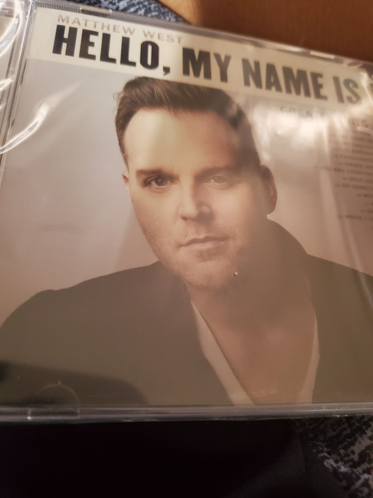 Matthew West • Hello My Name Is • Greatest Hits2019 Sparrow Records •••• - CD cover