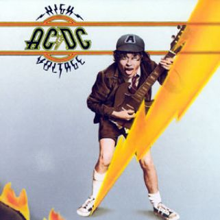 AC/DC     High Voltage - CD cover