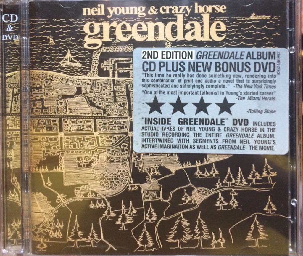 Greendale - CD/DVD cover