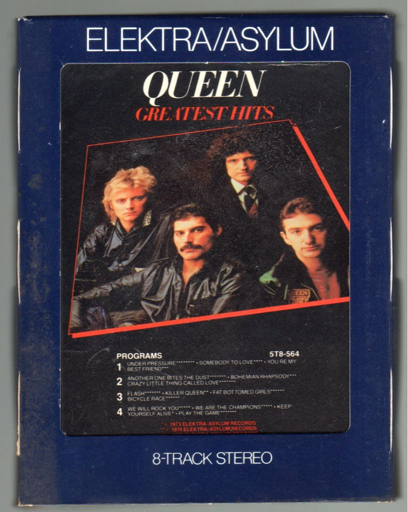 Queen Greatest Hits - 8-Track Cartridge cover