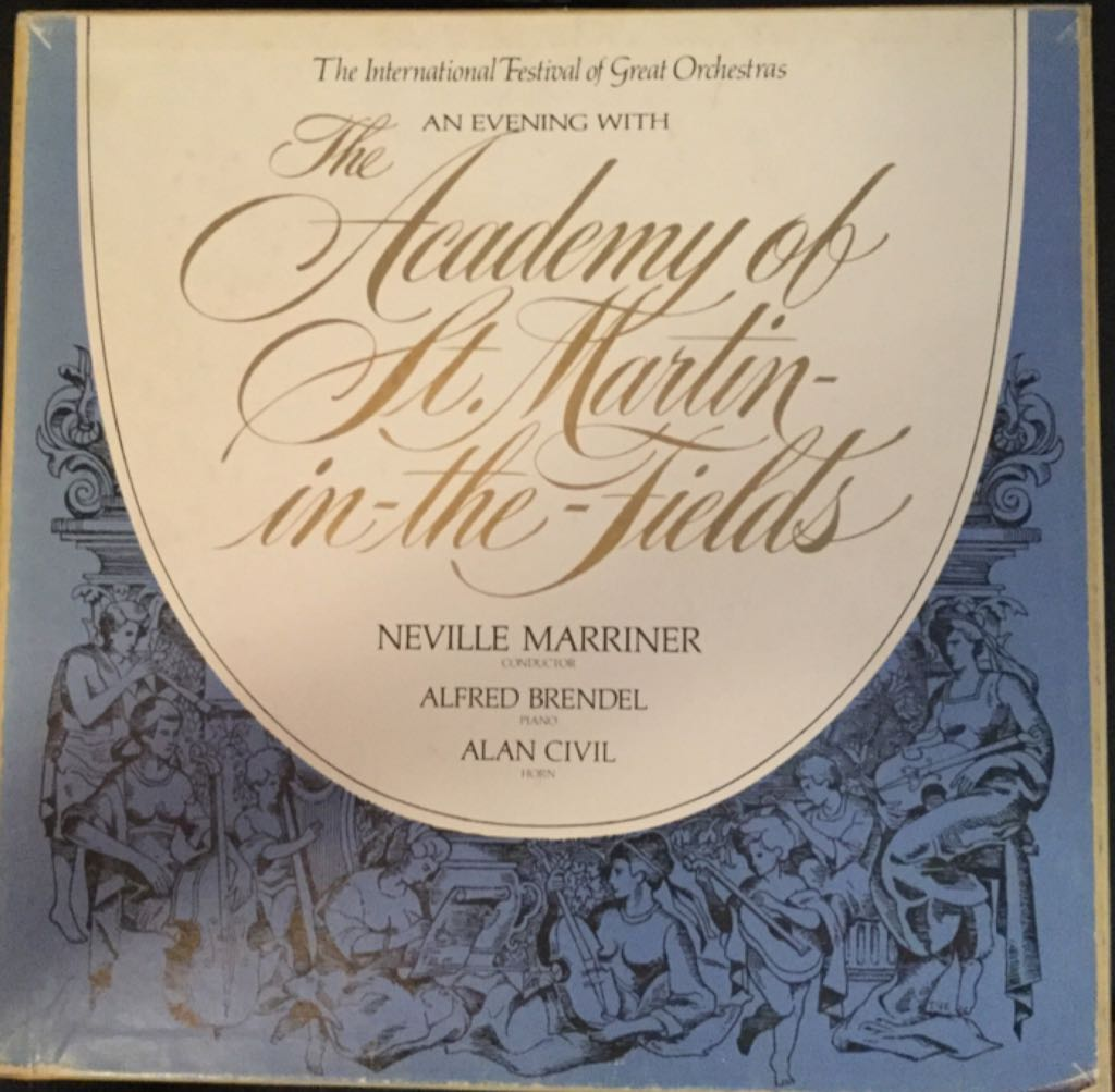 The International Festival Of Great Orchestras And Evening With The Academy Of St. Martin-in-the-fields Neville Marriner -  cover