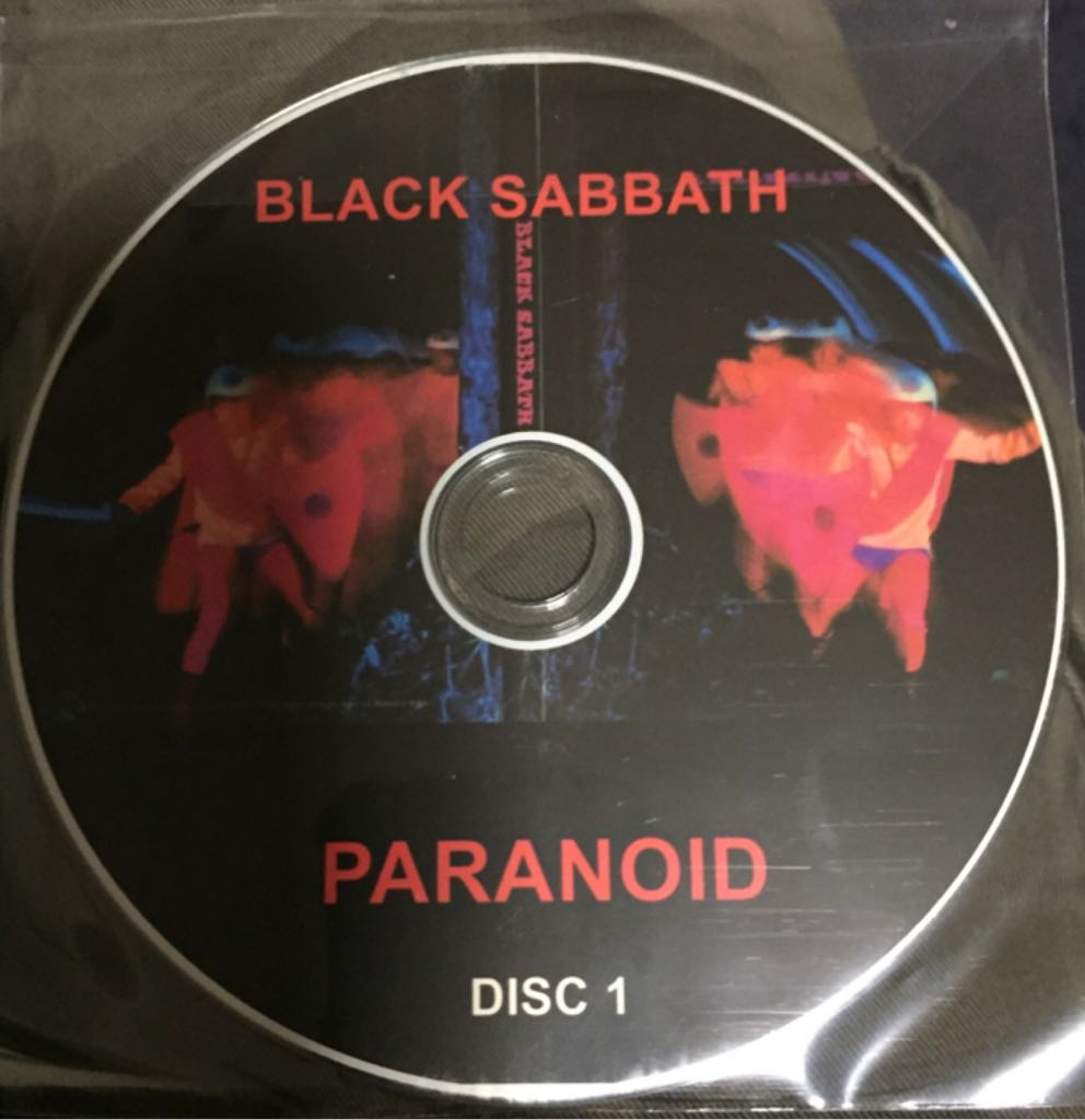 Paranoid - CD cover