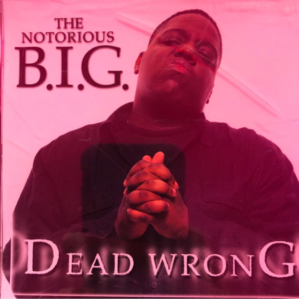 Dead Wrong CDS (US) - CD cover