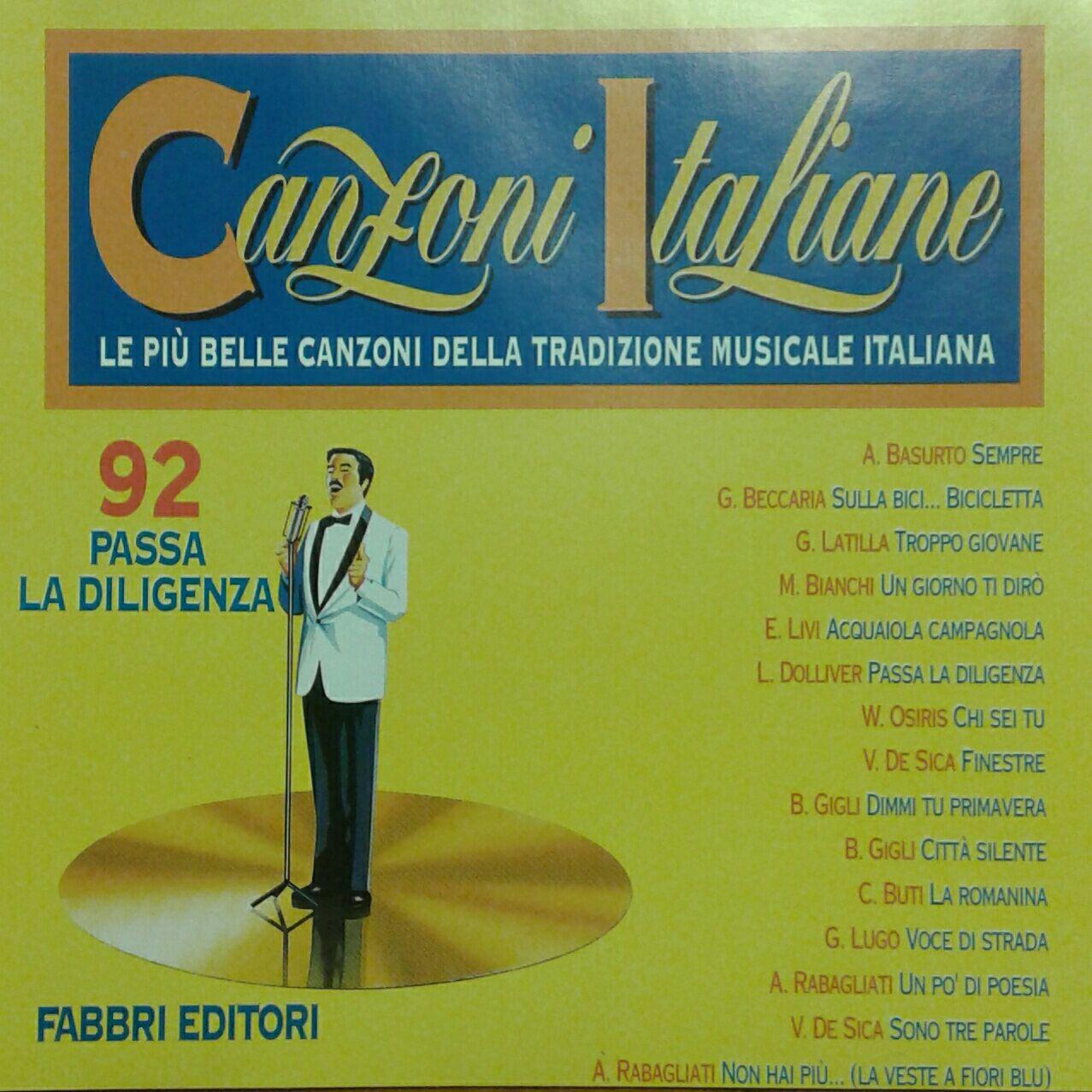 Canzoni Italiane - PASSA LA DILIGENZA [1994] - CD cover