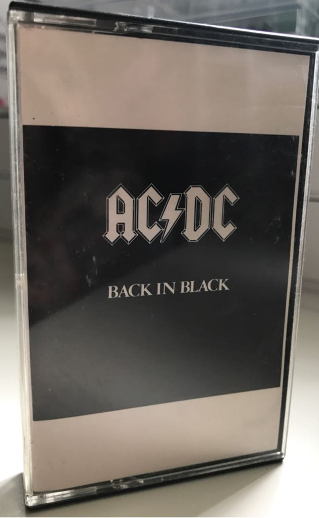 Back In Black - Cassette cover