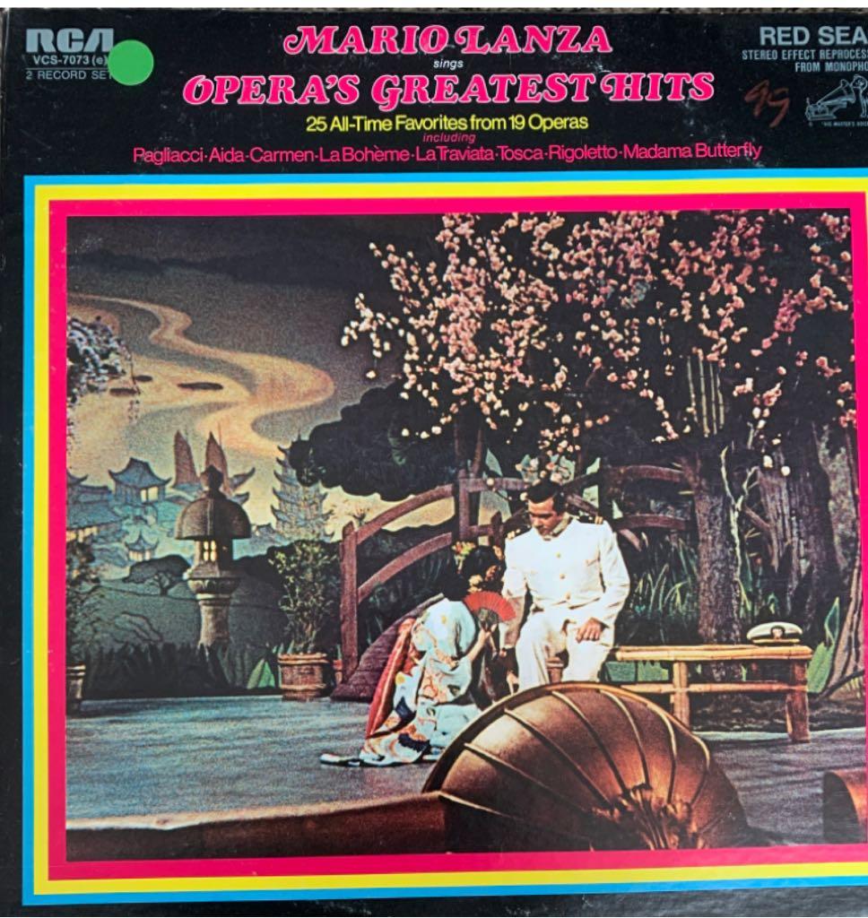 Mario Lanza Sings Opera's -  cover