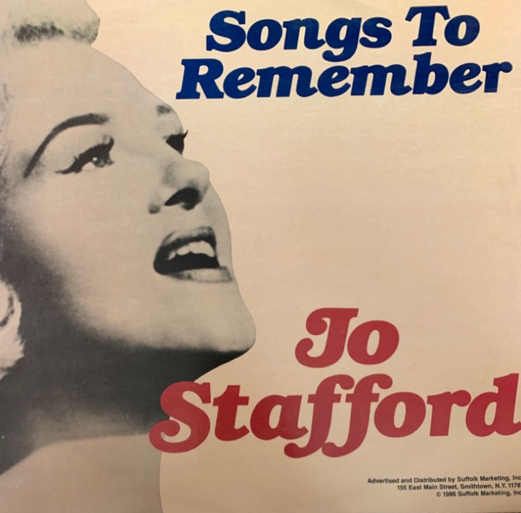 Jo Stafford Songs To Remember -  cover