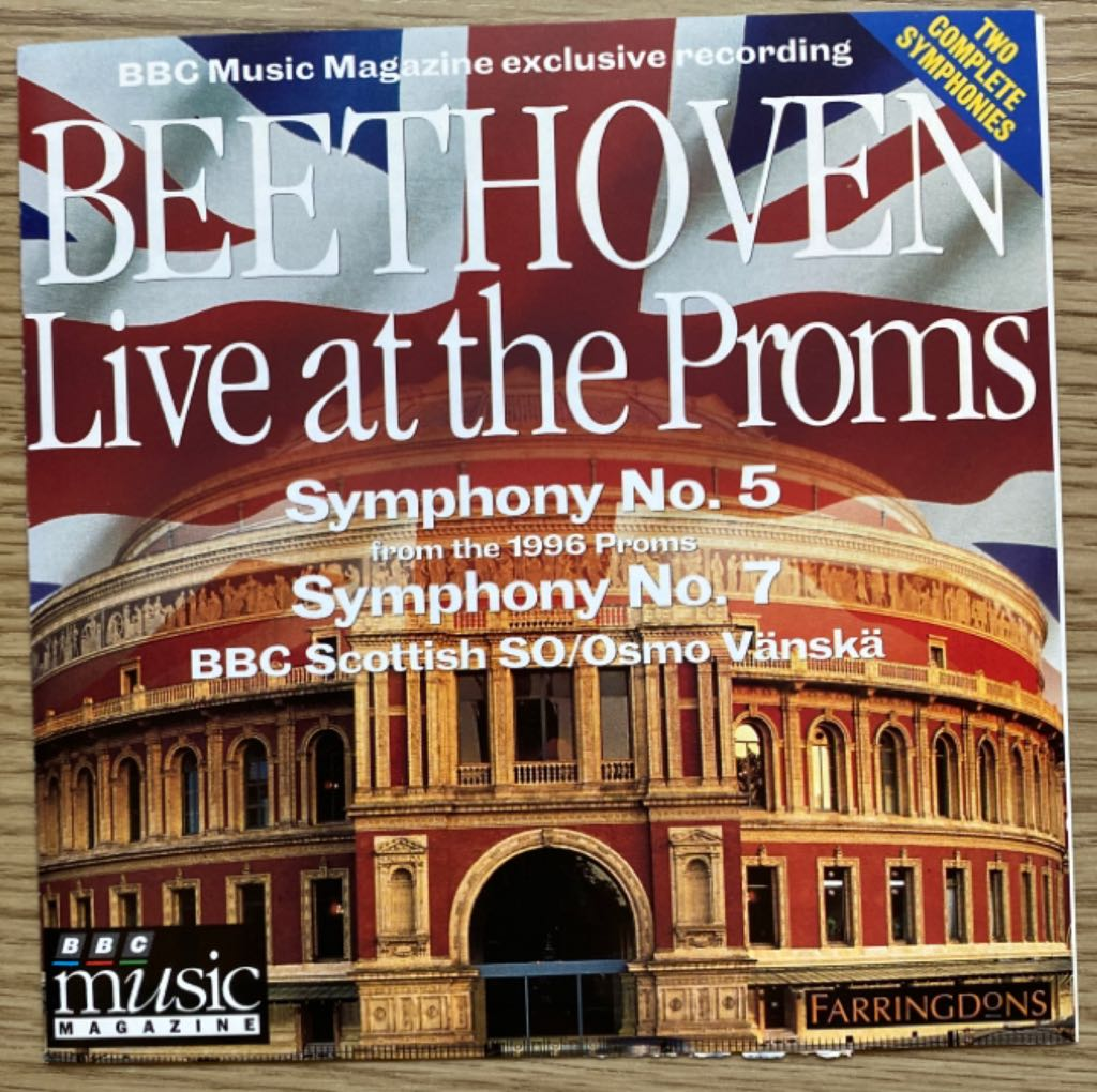 Ludwig Van Beethoven: Beethoven Live At The Proms - CD cover