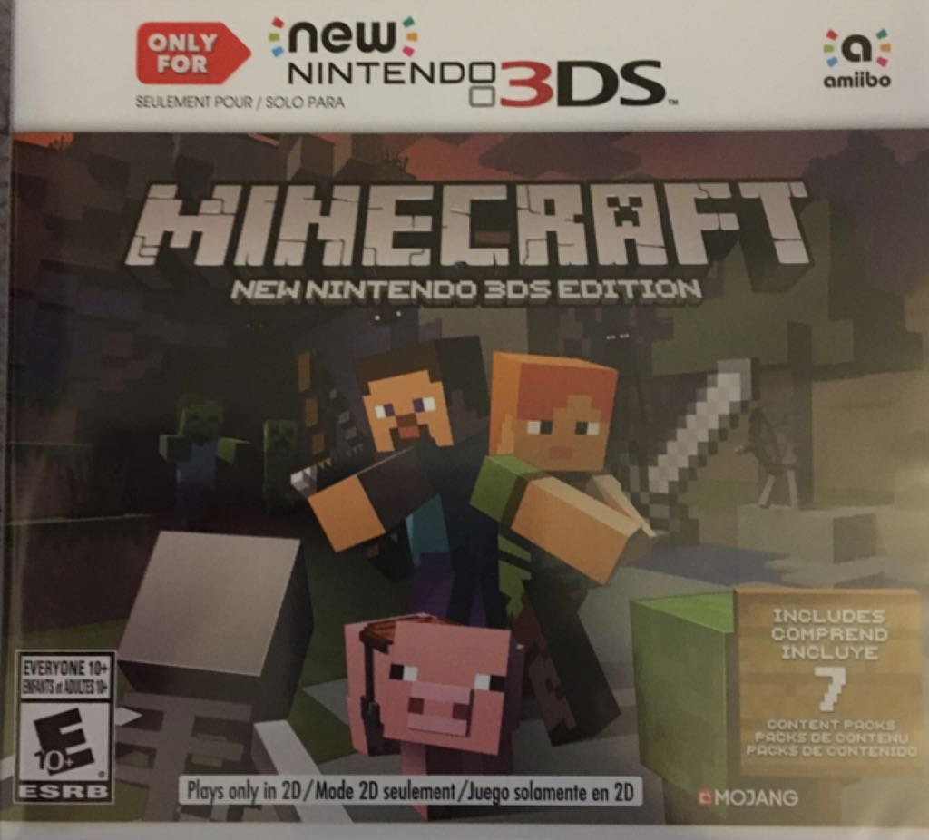 Minecraft: New Nintendo 3DS Edition. - 3DS cover