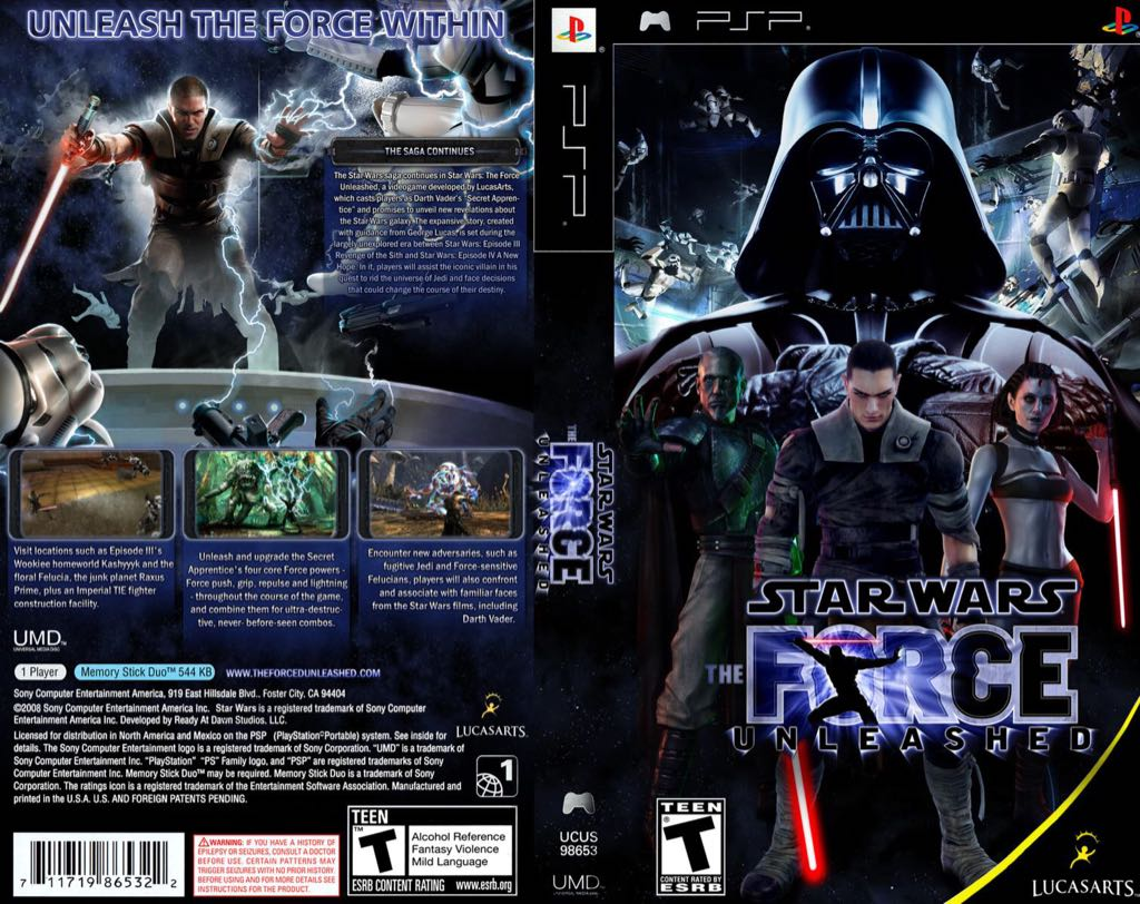 Star Wars: The Force Unleashed - Xbox 360 cover