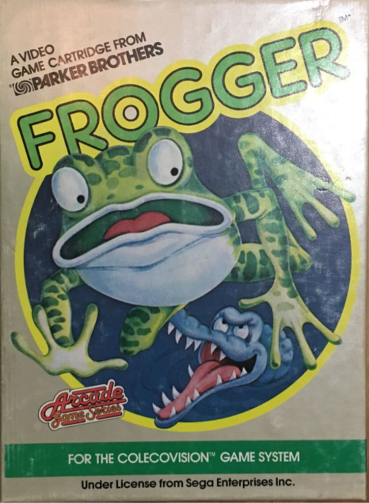 Frogger - Colecovision cover