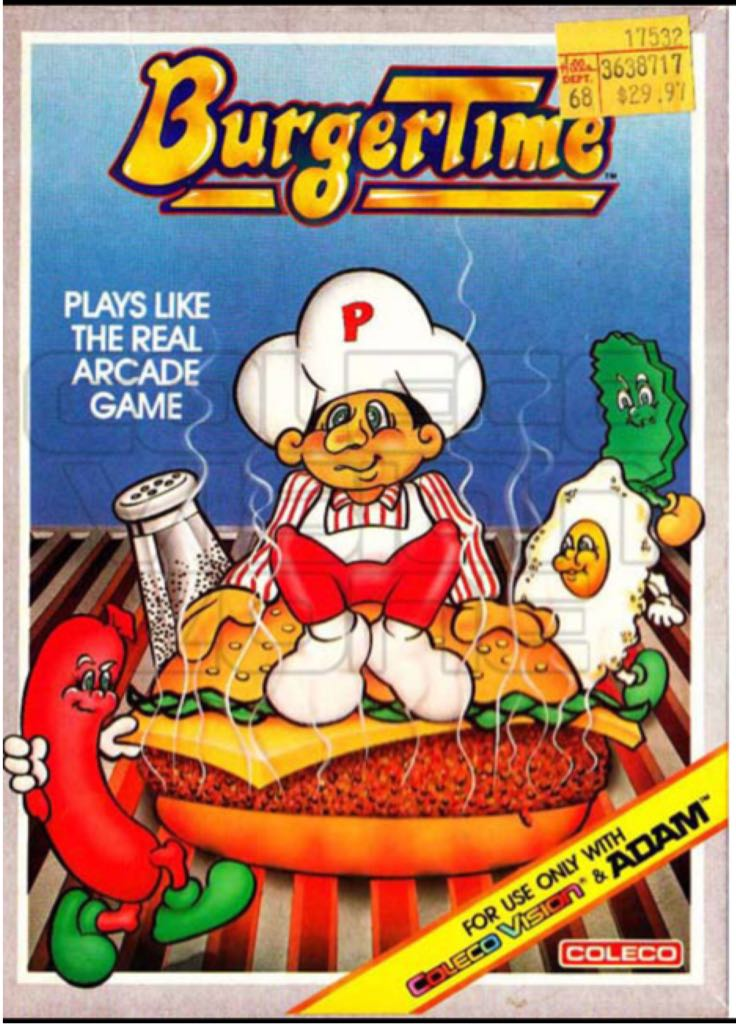 BurgerTime - Colecovision cover