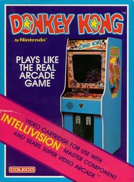 Donkey Kong - Intellivison cover