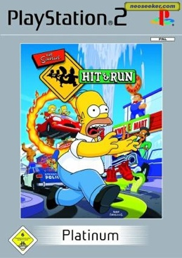 The Simpsons: Hit and Run - PS2 cover