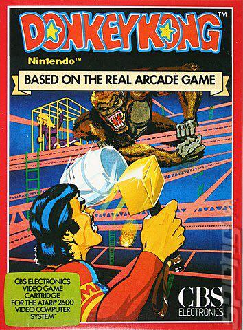 Donkey Kong (w/manual) - Atari 2600 cover