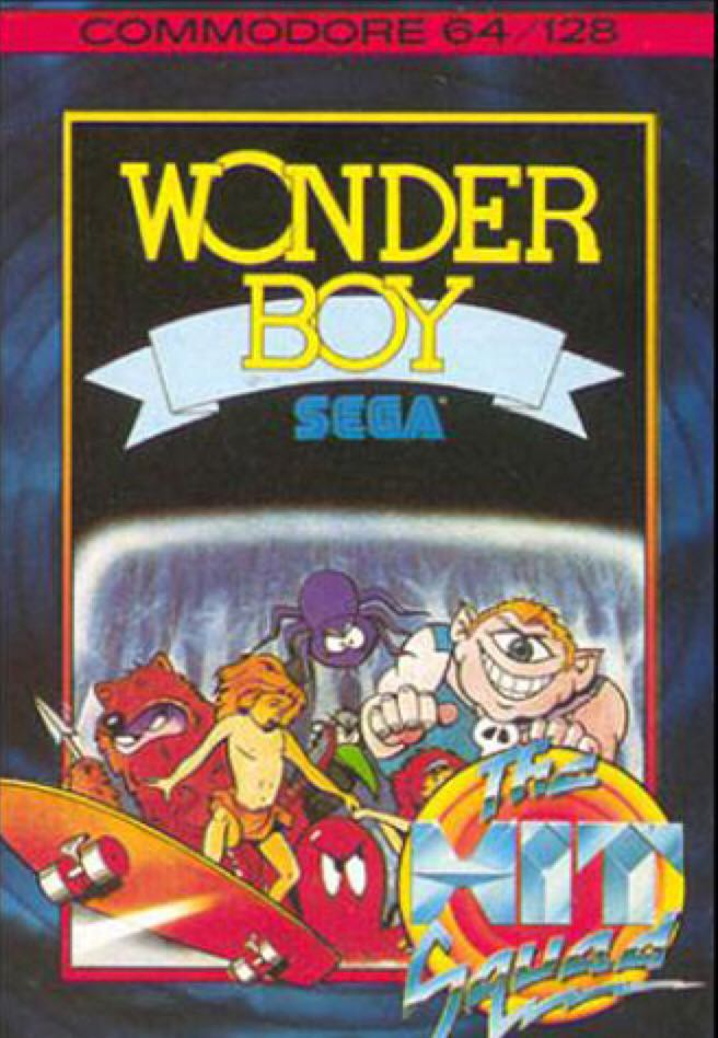 Wonder Boy - Commodore 64 cover