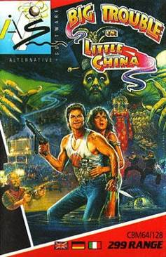Big Trouble In Little China - Commadore 64 cover