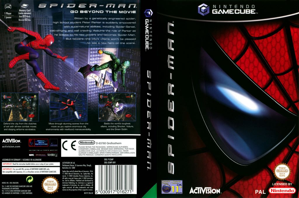 Spider-Man - Game Boy Advance cover