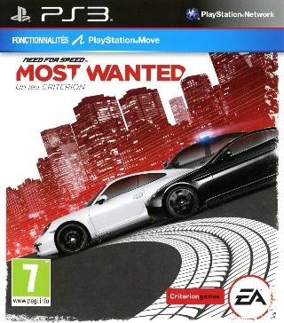 Need For Speed: Most Wanted - PS3 cover
