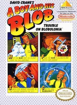 A Boy And His Blob - NES cover