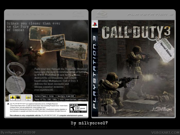 Call Of Duty 3 - PS3 cover