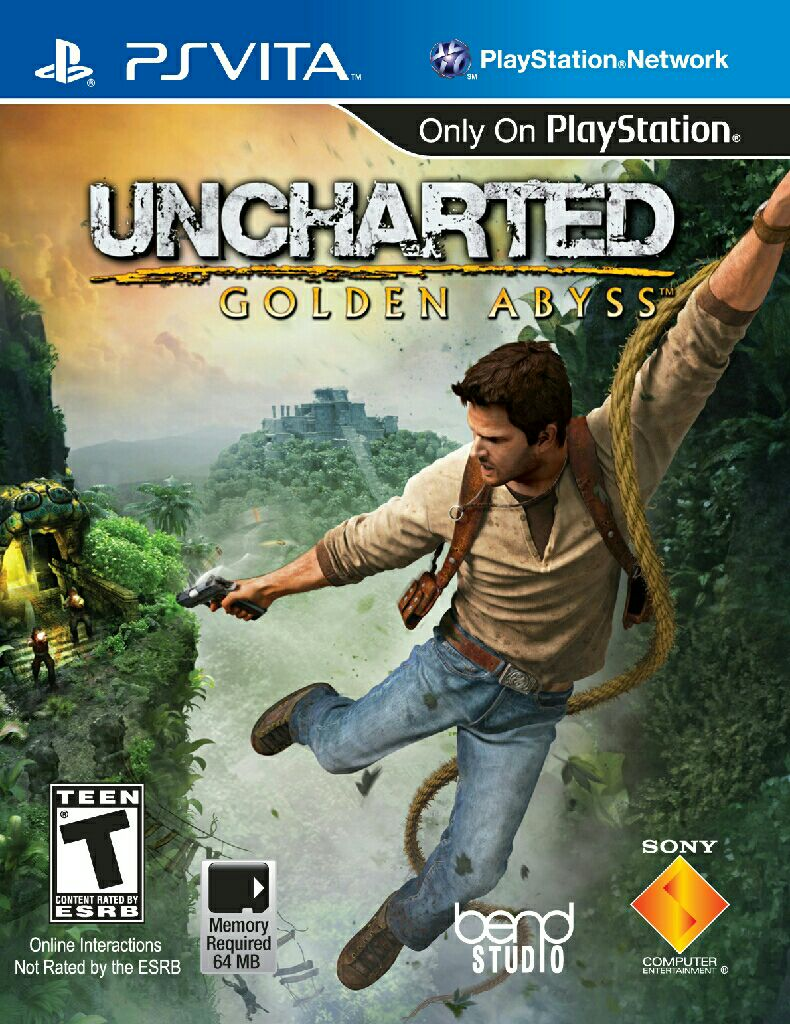 Uncharted Golden Abyss - PS Vita cover