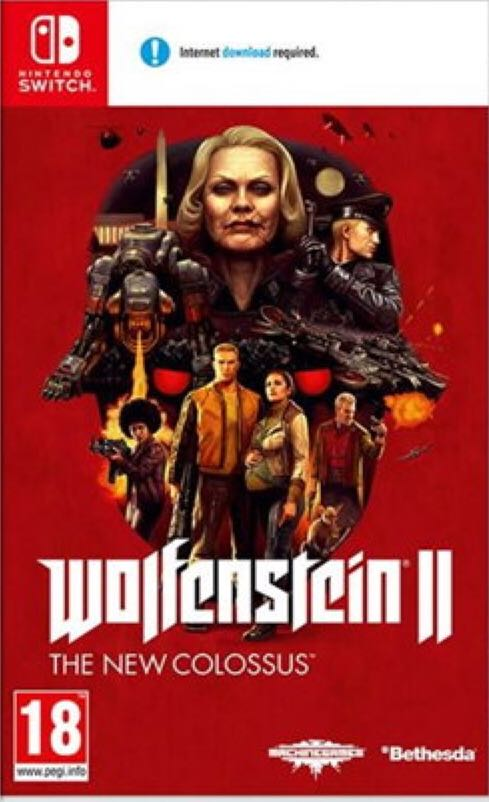 Wolfenstein 2: The New Colossus - Switch cover