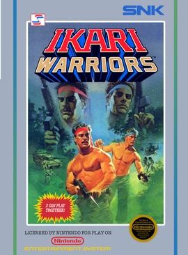 Ikari Warriors - NES cover