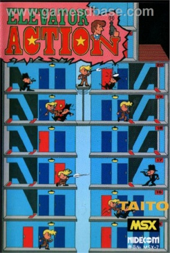 Elevator Action - MSX cover
