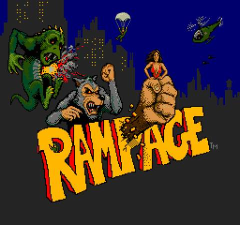 Rampage - Arcade cover
