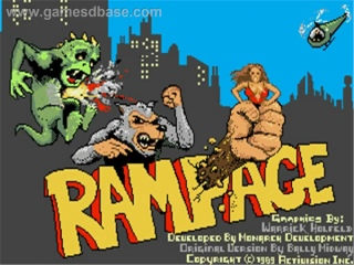 Rampage - Commadore 64 cover